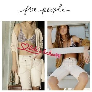 Free People Rebel Rouser Cut-Off Denim Shorts